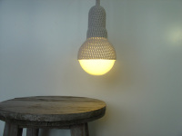 Lighting Reaches a New Level When Visions of Crocheted Lamp Shades and Chandeliers Show up