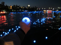 Tokyo's New Sky Tree Tower Featured 100,000 Glowing Blue LED Orbs