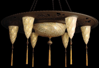 Fortuny Creates Chandelier Combines Two of Previous Designs Into One Eccentric Chandelier