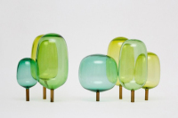 The Forest Woods Glass Lamp