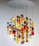 Composed of 120 Drinking Glasses From The 1960's and 70's