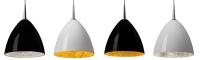 Bruck Lighting's Cleo Hanging Pendant Light Encompasses a High-Gloss Handblown