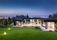 Modern House With A Retro Car As A Focal Point