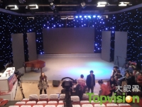 Stage Background LED Display Was Built by Topvision for Linfen Broadcasting and TV Station