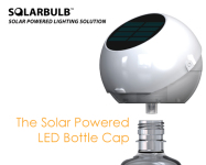 This Unique Way to Illuminate Your Water Bottle Uses a Solar Powered Cap