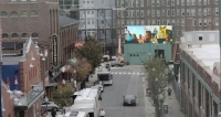 A Vibrant LED Video Screen Was Installed at The Corner of Famous Lansdowne Street