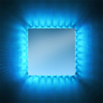 Marilyn Moods Square RGB Mirror Glows Like The Sun with Its Colorful Outburst of Light