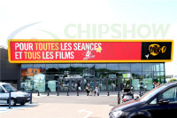 France Movie Theatre Chipshow AD10 Outdoor Advertising LED Screen