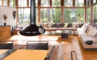 Modern Living Room Design by Boston Architect Hammer Architects Natural Light