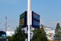 QS-TECH Successfully Completed The Double-Sided Outdoor Full Color LED Displays Project