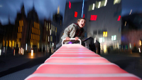 Equipped with a Physics Engine & 33 Rows of LED Lights This Seesaw Is Truly Like No Other