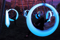 Lying on The LED Lights, Swing Time Makes You a Romantic Night Time