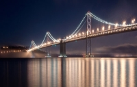 San Francisco-Oakland Bay Bridge Is Paving The Way for The World's Largest Light Sculpture