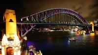 Harbour Bridge Incorporated Into The Annual Vivid Sydney Light Festival