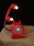 Desk Lamps and Table Lamps Are Popping up ,Using The Base of The Rotary Phone Element