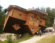 This Topsy Turvy Home Embodies The Tiny Village of Szymbark in Northern Poland