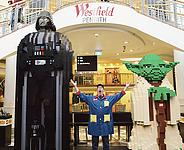 The Darth Vader Figure Is Made From Over 250,000 Bricks and Stands at Four Meters High