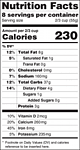 FDA Proposed Format Nutrition Labels