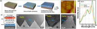 Gallium Arsenide on V-Groove Silicon Template for Photonics and Electronics