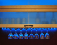 Ayelet Designs Under Cabinet LEDs Adding a Splash of Color&Style to Wine Glass Collection