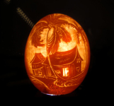 New Art LED Lighting:Carved on a Chicken Egg