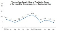 Growth Rate of Value Added of The Industrial Enterprises