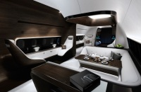 a Luxurious and Integrated Cabin Concept Have Been Designed for Private Jets