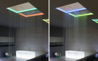 Antoniolupi's Colorful Glowing Meteo LED Shower Head Was Designed by Nevio Tellatin