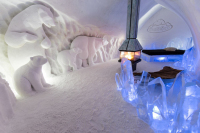 Hotel De Glace Is a Charming Hotel That Is Made Almost Entirely of Ice