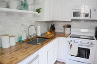 Butcher Block Countertops Gives a Rich, Cozy Feel to a Kitchen