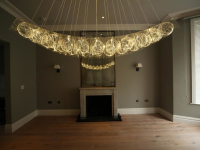 Bruce Monro Brightened a Residential Home in London with a Commissioned Chandelier