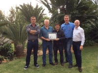 Vipal Rubber Presented a Plaque to Acknowledge 10 Years of Partnership in South Africa