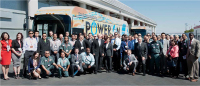 BYD has opened the first ever electric bus factory in Lanscater, California in the US