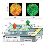 Sophia University Has Used Nanocolumns of Nitride Semiconductor to Produce Different LEDs