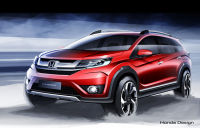 Honda Prospect Unveiled The Official Sketches of The Crossover Utility vehicle Honda BR-V