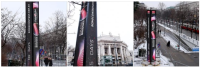 LED Display Countdown Tower Was Launched Today at Viennas's Rathausplatz