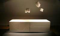 Minimalist Gloss Lacquered White Sideboard – Angel by Piurra