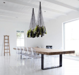 Wine Bottle Chandelier Was Designed to Light up The Tasting Rooms at Maison Estate Winery