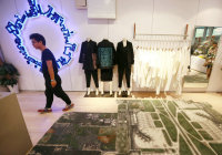 Art Exhibition Pops up in Beijing Clothing Store