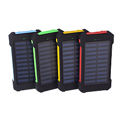 Зарядное устройство для телефона солнечной энергии на два порта USB 8000Мач питание банка