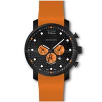 Stainles Steel Cronógrafo reloj deportivo de la banda de silicona resistente al agua de los hombres reloj de pulsera