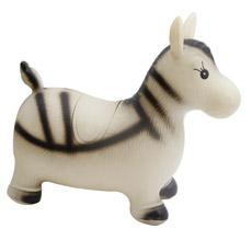 Juguete natural inflable plástico del caballo de la cebra de los animales salvajes del mundo