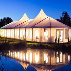 Evento permanente de la fiesta de la marquesina claro Span personalizar la tienda de la boda