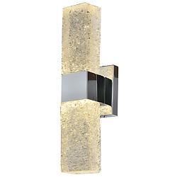 Arriba y Abajo decorativos de cristal LED Luz aplique de pared