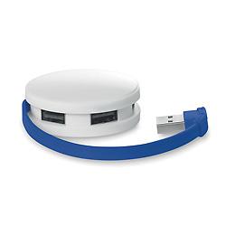 Simple 4 Puerto USB 2.0 HUB en Caja de ABS con logotipo personalizado