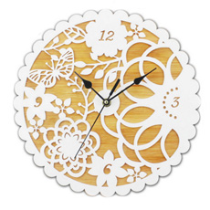 Bamboo Acrylic Wall Clock для Home Decoration