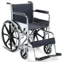 Складывая стальная ручная кресло-коляска с рамкой крома