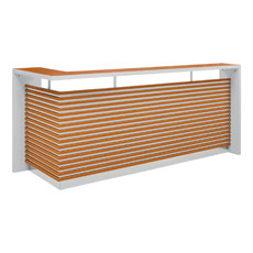 Meubles de bureau, bureau de réception avec la décoration striée striée (OWQT3401-24)