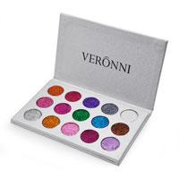 A melhor paleta cosmética de venda da sombra do Glitter das cores da composição 15 de Veronni