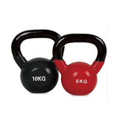 Salle de gym du matériel de fitness force Machine Crossfit Kettlebell vinyle coloré en fonte